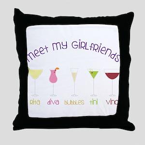 My Girlfriends Throw Pillow