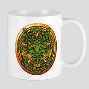 Ash Celtic Greenman Pentacle Mug
