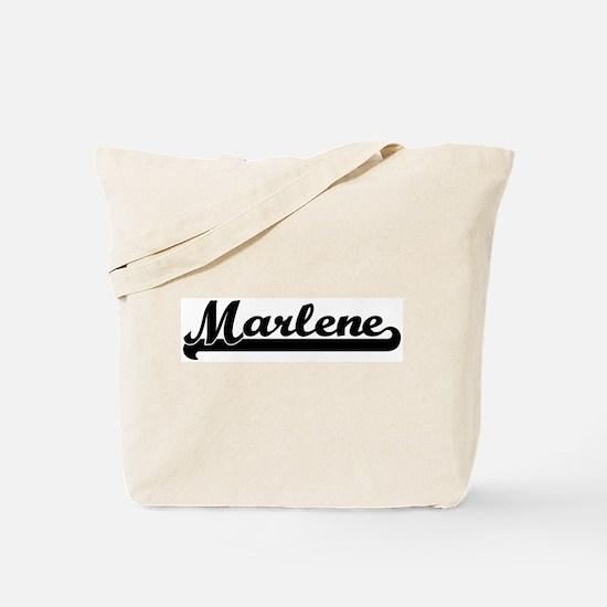 Black jersey: Marlene Tote Bag