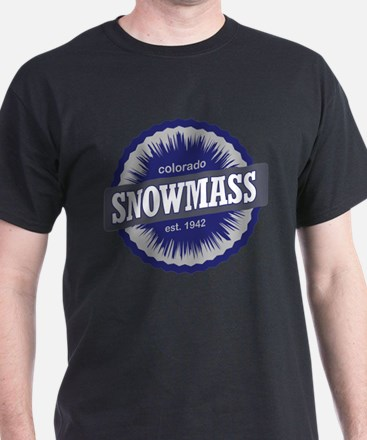 Snowmass Ski Resort Colorado - Blue T-Shirt