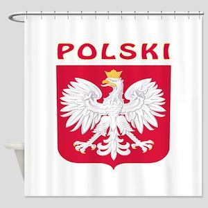 Polski Coat of arms Shower Curtain