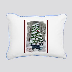 Cardigan Welsh Corgi Chr Rectangular Canvas Pillow