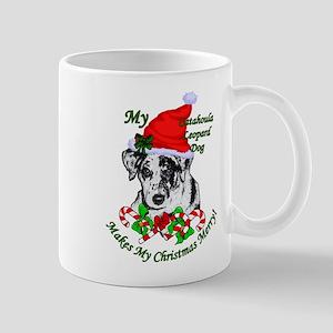 Catahoula Leopard Dog Christmas 11 oz Ceramic Mug