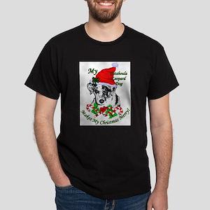 Catahoula Leopard Dog Christmas Dark T-Shirt