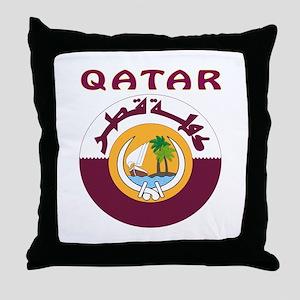 Qatar Coat of arms Throw Pillow
