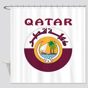 Qatar Coat of arms Shower Curtain