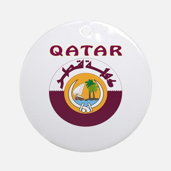 Qatar Coat of arms Ornament (Round)