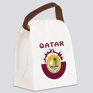 Qatar Coat of arms Canvas Lunch Bag
