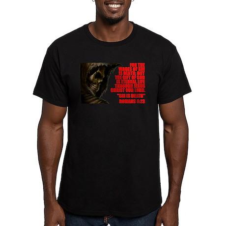 SIN IS DEATH Men's Fitted T-Shirt (dark)
