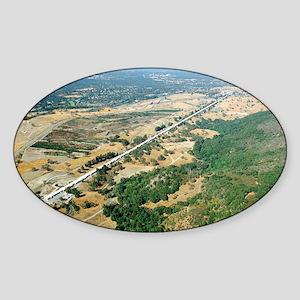 Aerial photo of SLAC Linear Accelerator - Sticker