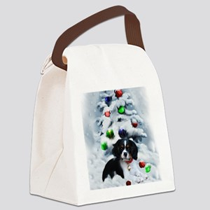 Cavalier King Charles Christmas Canvas Lunch Bag