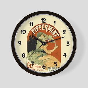 Vintage Pippermint Spirits Wall Clock