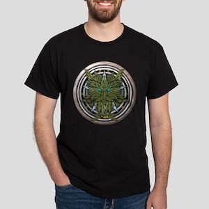 Willow Celtic Greenman Pentacle Dark T-Shirt