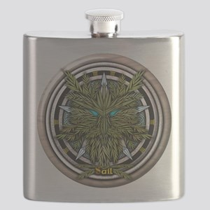 Willow Celtic Greenman Pentacle Flask