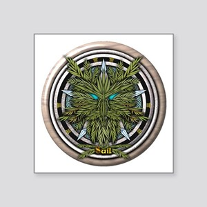 """Willow Celtic Greenman Pentacle Square Sticker 3"""""""