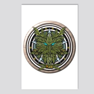Willow Celtic Greenman Pentacle Postcards (Package