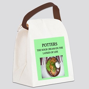 pottery Canvas Lunch Bag