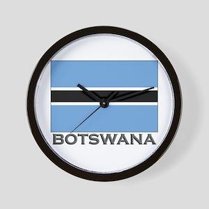 Botswana Flag Stuff Wall Clock