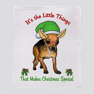 Chihuahua Christmas Throw Blanket