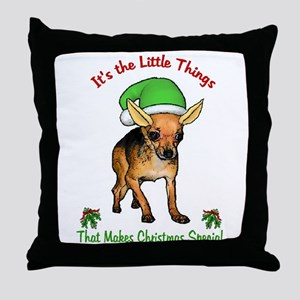 Chihuahua Christmas Throw Pillow