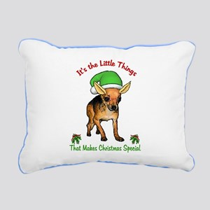 Chihuahua Christmas Rectangular Canvas Pillow