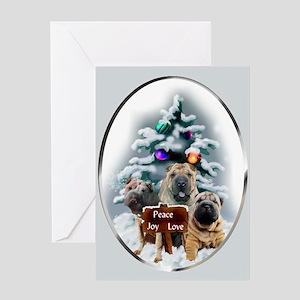 Chinese Shar-Pei Christmas Greeting Card