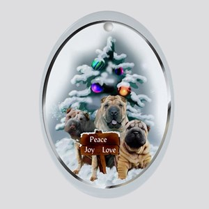 Chinese Shar-Pei Christmas Oval Ornament
