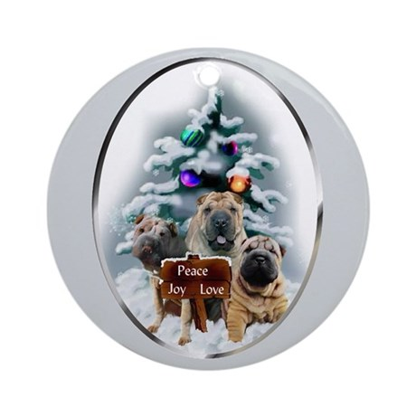 Chinese Shar-Pei Christmas Round Ornament
