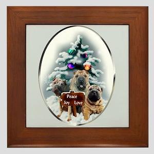 Chinese Shar-Pei Christmas Framed Tile