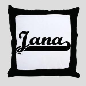 Black jersey: Jana Throw Pillow