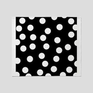 Spotty Pattern on Black. Throw Blanket