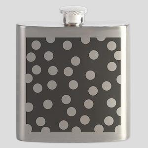 Spotty Pattern on Black. Flask