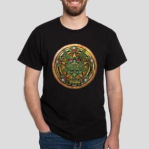 Hawthorn Celtic Greenman Pentacle Dark T-Shirt