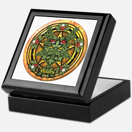 Hawthorn Celtic Greenman Pentacle Keepsake Box