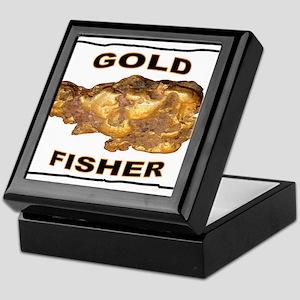 GOLD FISHER Keepsake Box