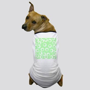 Ring Pattern, Mint Green. Dog T-Shirt