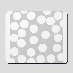 Dot Pattern, Gray. Mousepad