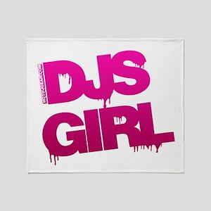 DJs Girl Pink Throw Blanket