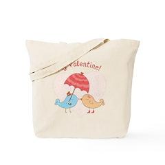 My Valentine Love Birds Tote Bag