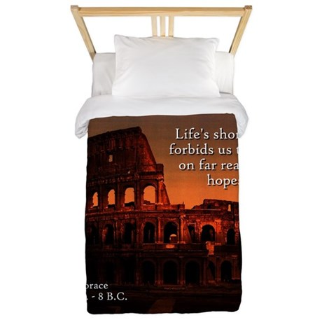 Life's Short Span - Horace Twin Duvet Cover