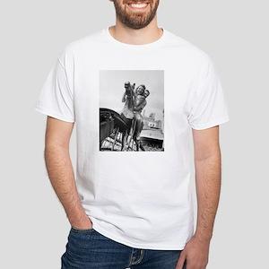 Coney Island Steeplechase Ride 1824064 White T-Shi