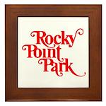 Rocky Point Park - Red Logo Framed Tile