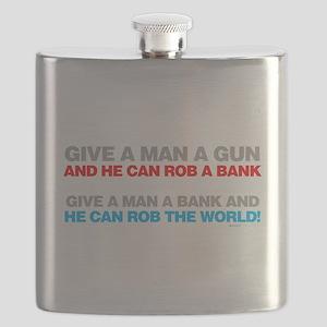 Give a Man A Gun Flask