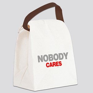 Nobody Cares Canvas Lunch Bag