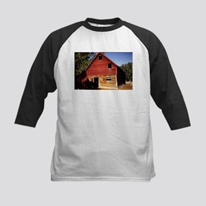 old view of cabin in Montana Kids Baseball Jersey
