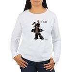 Bunny Biker Bunny Rabbit Women's Long Sleeve T-Shi