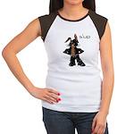 Bunny Biker Bunny Rabbit Women's Cap Sleeve T-Shir