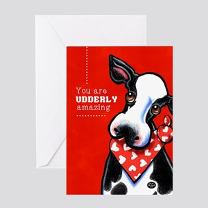 Udderly Amazing Funny Cow Greeting Card