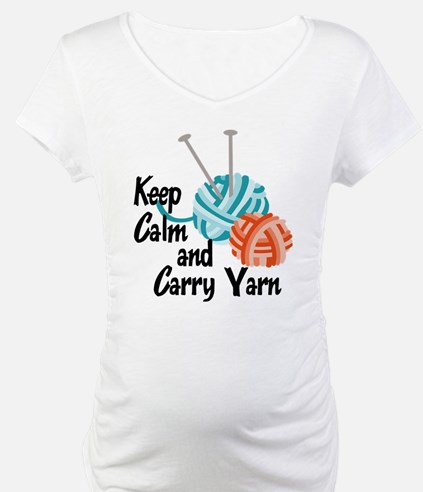 Keep Calm and Carry Yarn Shirt
