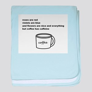 Ode to Coffee baby blanket